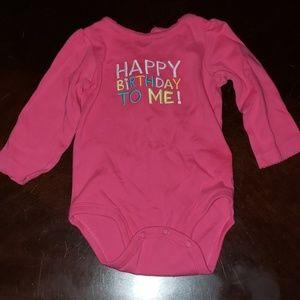 12mo long sleeve birthday onesie